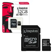 KINGSTON MICRO SDCS 32Gb Class 10 Canvas Select+SD Adapter