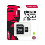 KINGSTON MICRO SD 32GB SDCS/32GBSP CLASS 10 Canvas Select w/o adapter